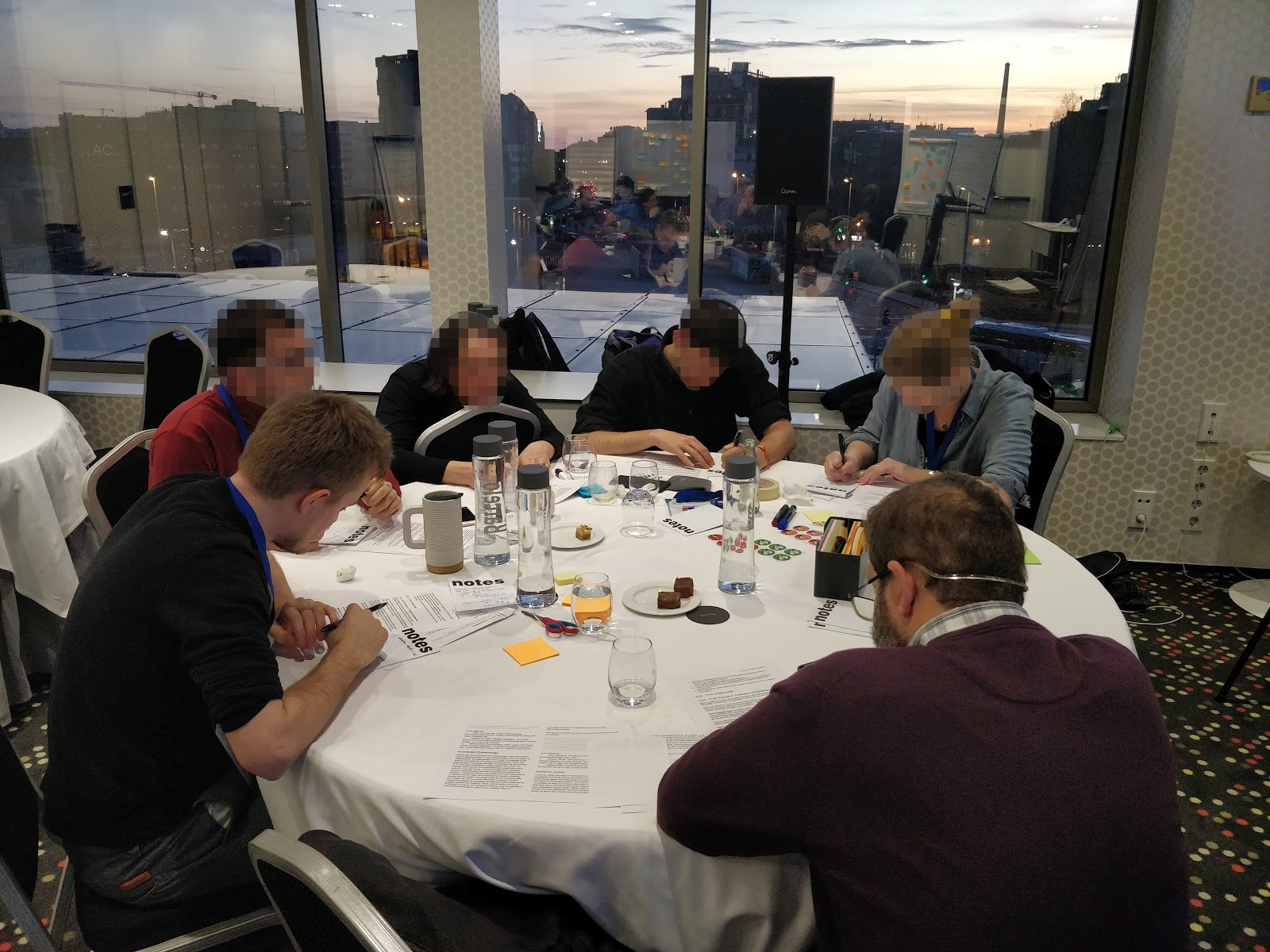 Workshop participants drawing their workflows